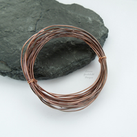 Antique copper wire, hand patinated, 0.8mm oxidised wire jewellery crafts