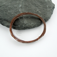 Antique copper wire, hand patinated, 0.4mm oxidised wire jewellery crafts
