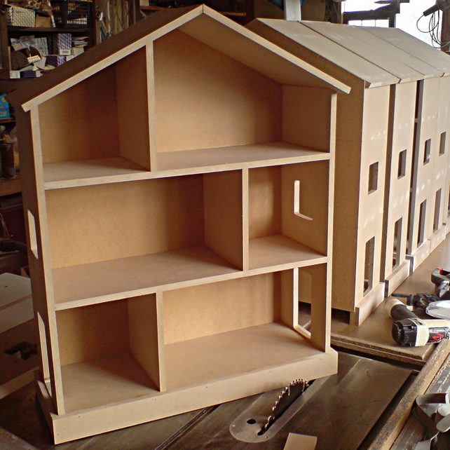 Small Handmade Childrens Nursery Dolls House Bookcase Shelves -UNPAINTED