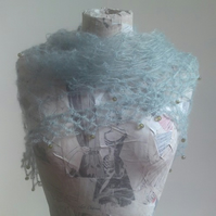 Love Knot Shawl - Sea Glass