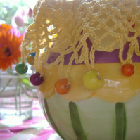 Beaded Jug Cover - Sunshine