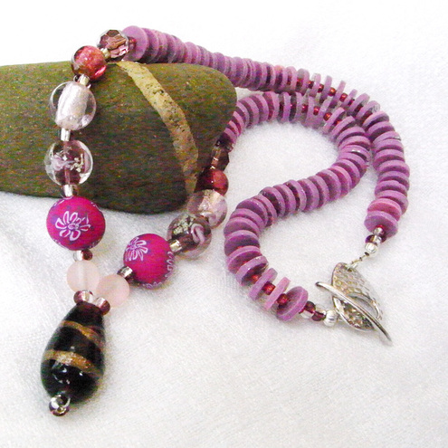 Pink Necklace for Folksy Bead Soup Charity Challenge