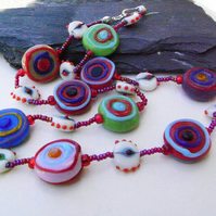 Multicoloured Necklace  (ne062)