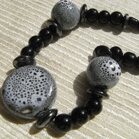 Black Speckled Necklace