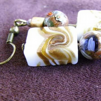 Toffee Swirl Earrings  (ear022)