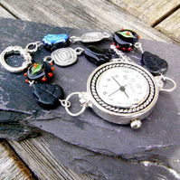 Watch with Beaded Bracelet  (watch001)