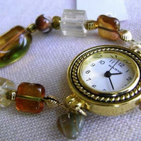 Amber and Gold Watch  (watch002)