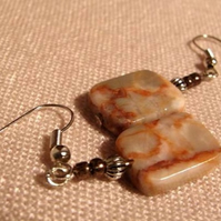 Spiderweb Jasper Earrings  (ear027)