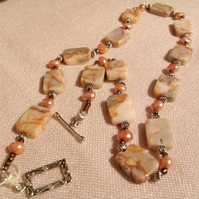 Spiderweb Jasper Necklace   (ne065)