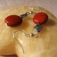 Red Jasper Earrings  (ear029)