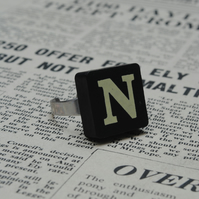 Keyword Ring - Letter N