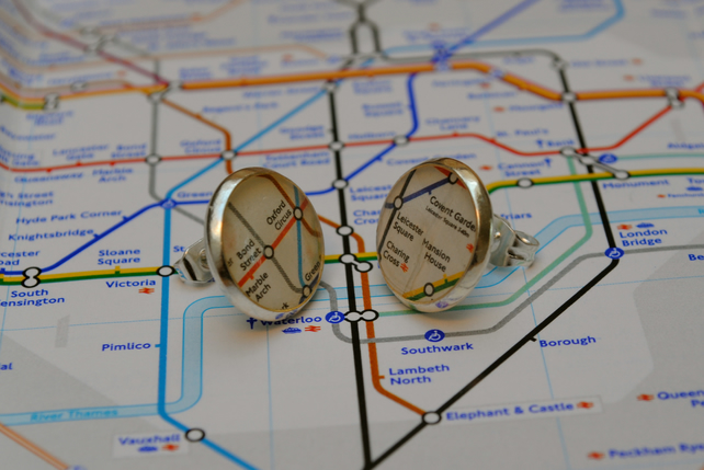London Underground Earrings
