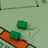 Monopoly House Earrings