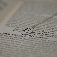 Personalised Old Book Typeface Necklace