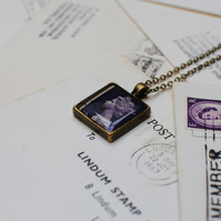 Vintage Stamp Necklace