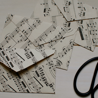 5 Music Paper Envelopes