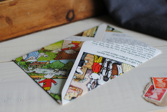 6 Rupert Bear Envelopes