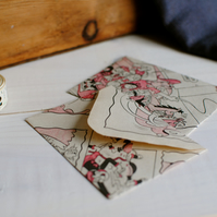 5 Miniature Book Paper Envelopes