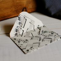 5 Miniature Music Paper Envelopes