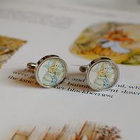 Beatrix Potter Character Cufflinks - Peter Rabbit