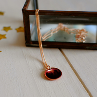 Handmade Copper and Resin Necklace