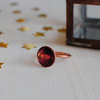 Handmade Copper and Resin Ring