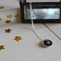 Handmade Sterling Silver and Resin Necklace