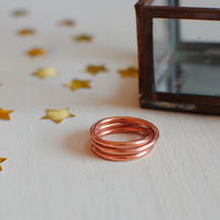 Handmade Copper Twist Ring