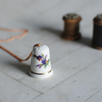 Vintage Thimble Necklace