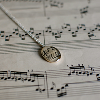 Music Paper Necklace