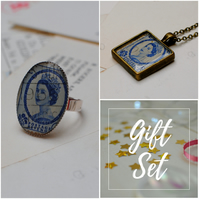 Vintage Stamp Collection Gift Set