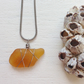 Rare orange sea glass necklace