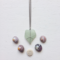 Pretty kite shaped aquamarine sea glass star necklace
