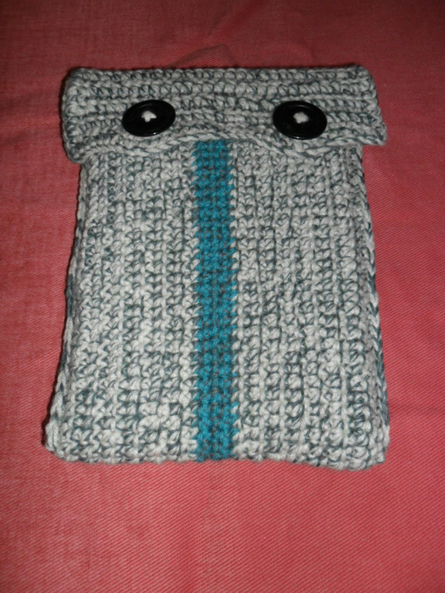 Kindle E-Reader Case, Crocheted in Greens