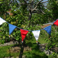 Bunting - hand knitted and beaded bunting
