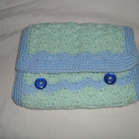Kindle 3G Case in Blue Shell Crochet
