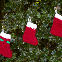 Christmas Stocking decorations - red