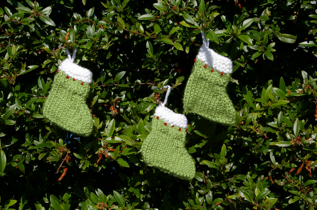 Christmas Stocking Decorations Knitted