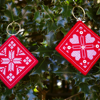 Christmas Decorations cross stitch Scandinavian style