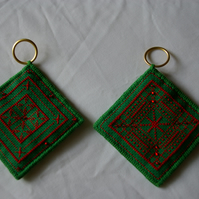 Christmas Decorations 2 Cross Stitched