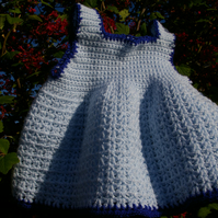 Baby Dress Crochet Sundress in Blue