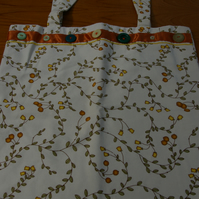 Tote Bag Orange and Lemon Print