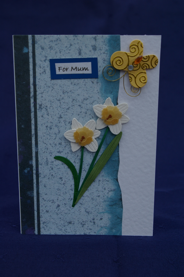 Mother's Day Card Daffodils and Butterfly