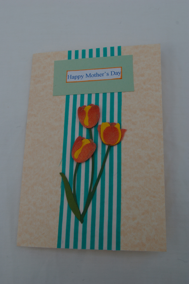 Hand Made Mother's Day Card - Tulips