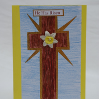 Easter Card Traditional Cross Design
