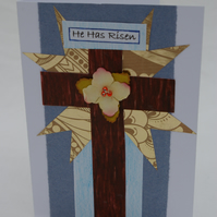 Easter Card Traditional Style with a Cross
