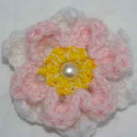 Hair Clip Crochet Flower