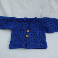 Baby Cardigan Crochet in Blue