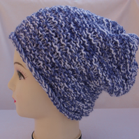 Hat hand knitted Chunky Slouch Beanie