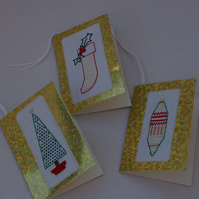 Gift Tags Christmas Cross Stitch